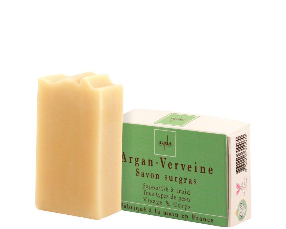 savon saponifié à froid huile argan karité verveine cosmétique ayda