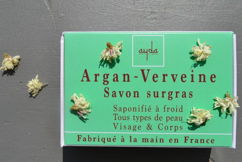 savon saponifié à froid argan verveine citronnée