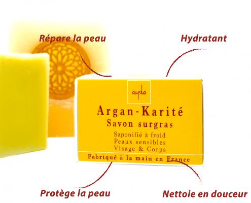 bienfaits savon à froid Argan-Karité Ayda