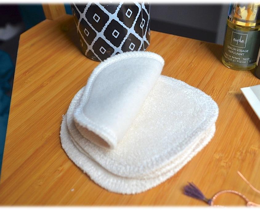 carré démaquillant coton