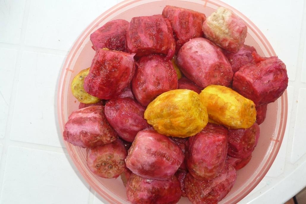 fruits dépulpés pour produire huile de figue de barbarie