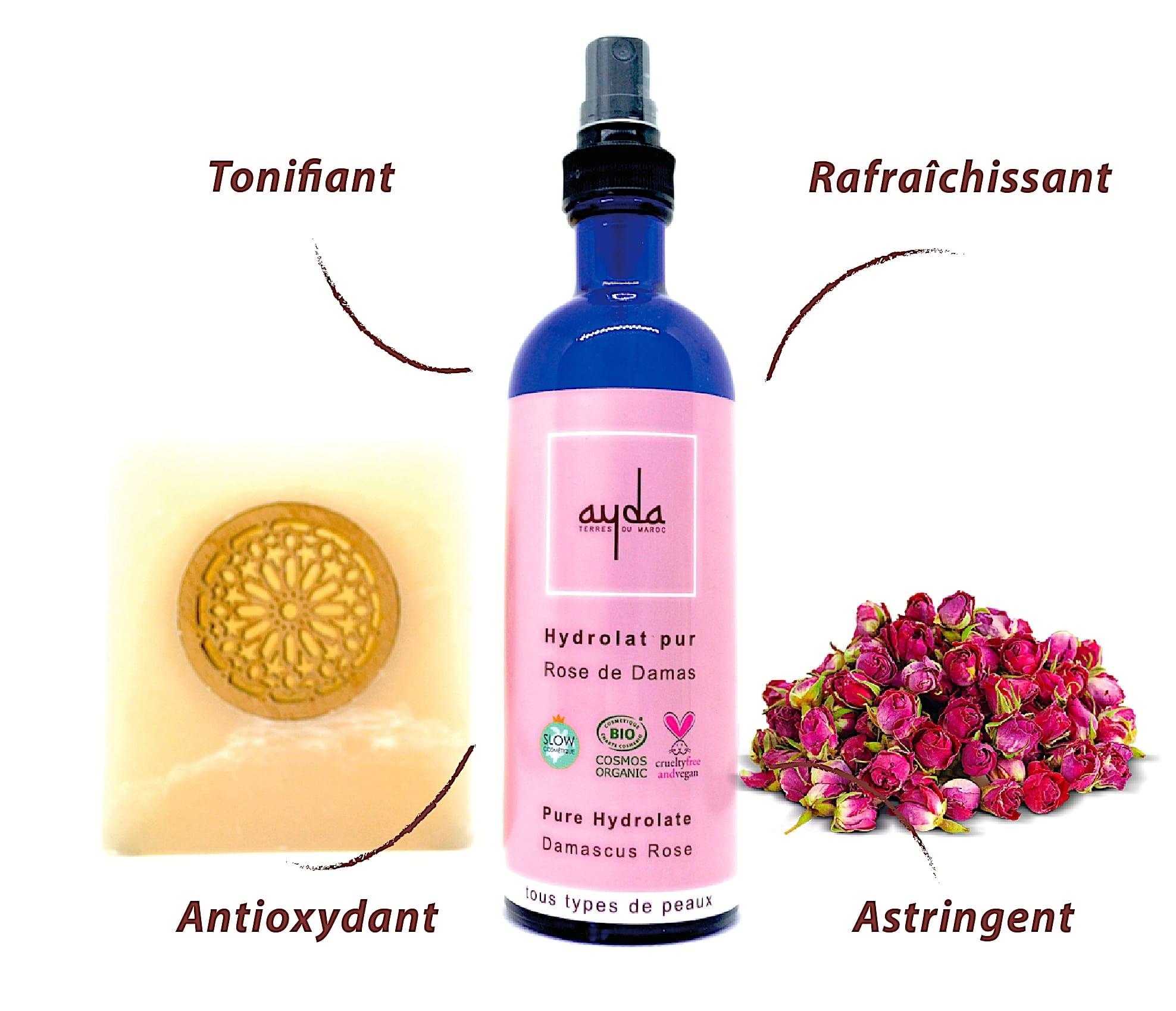 eau de rose damas ayda bienfaits
