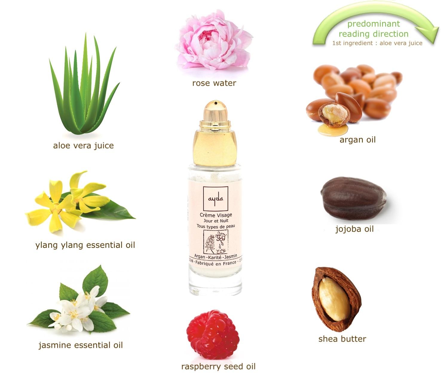 organic face cream composition