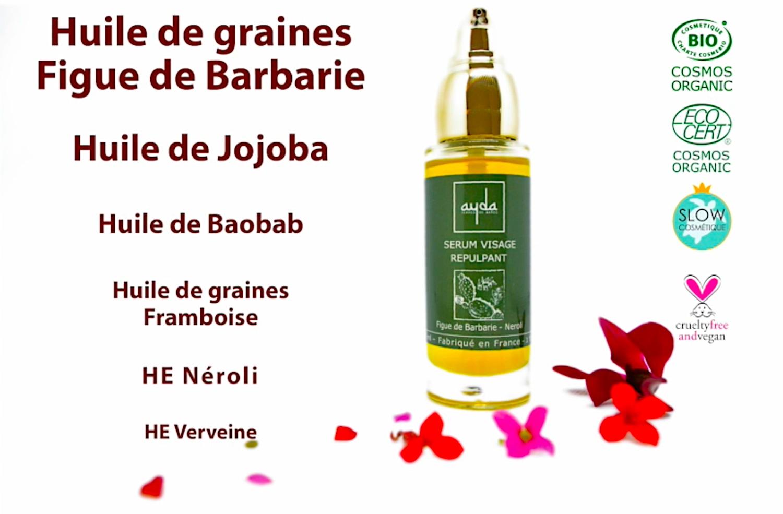 sérum visage bio huile de figue de barbarie neroli verveine