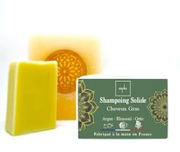shampoing solide bio cheveux gras argan rhassoul ortie sans tensioactif