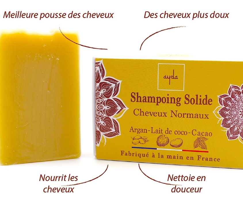 shampoing solide cheveux normaux
