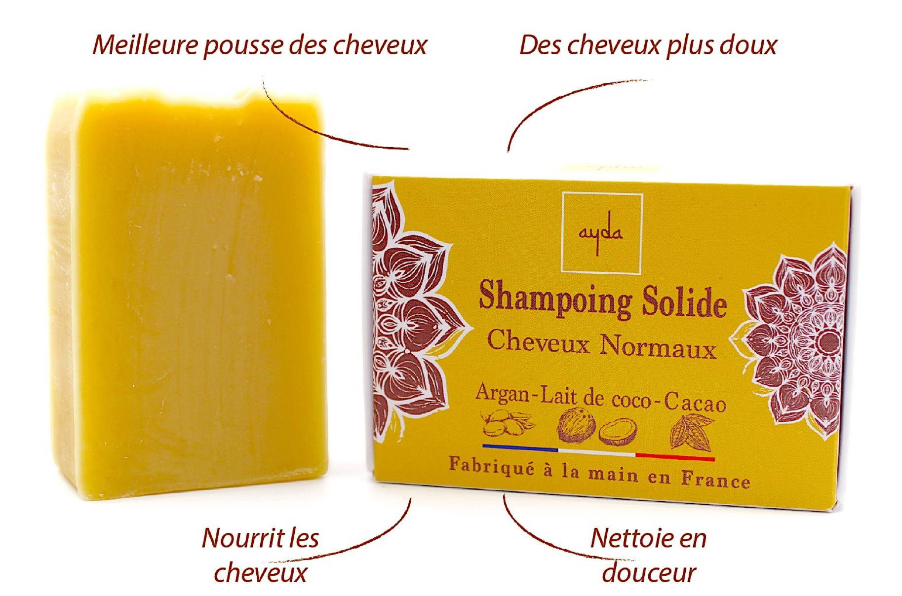 shampoing solide bio cheveux normaux bienfaits