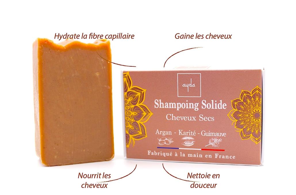 shampoing solide bio cheveux secs bienfaits