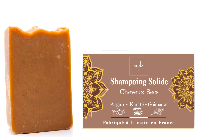 shampoing solide bio cheveux secs